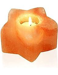 ヒマラヤ岩塩 キャンドルホルダー ソルトキャンドルスタンド 蝋燭台4個セット ろうそく8枚付き 結婚式 ウェディング 誕生日 キャンドルライト おしゃれ インテリア 仏壇 バレンタイン