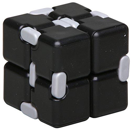 inFIT Fidget Infinity Cube ストレス解消 無限キューブ 任意の方向と角度から回転するフィジェットインフィニティキューブ FIC450BK B.ブラック/グレー