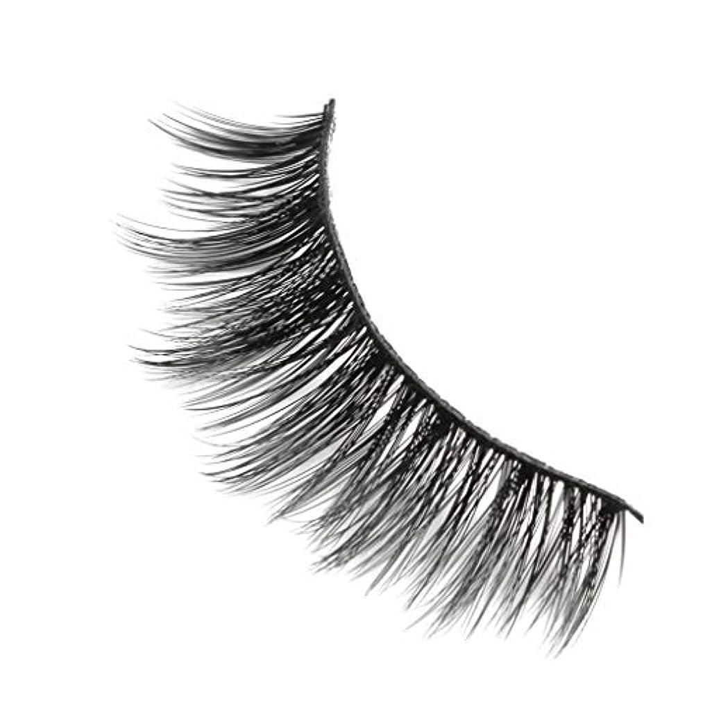 柔らかい長い巻き毛と歪んだ多くの層まつげと3Dミンクの毛皮の10ペア