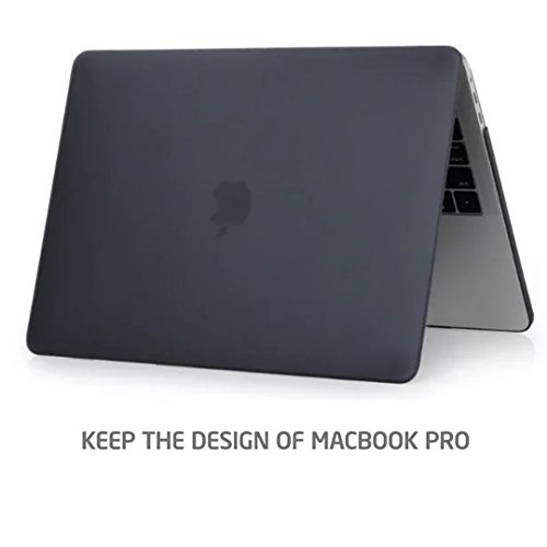 New MacBook Pro 13インチ 2016 / 2017 ケース MaxKu 高品質つや消しシェルカバー 超薄型 超軽量 耐衝撃 ハードケース (対応モデル:2016 New MacBook Pro 13 Touch Bar搭載A1706 / Touch BarなしA1708)【実機確認済】多色選択可能 (ブラック)