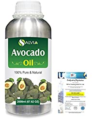 Avocado (Persea Americana) 100% Natural Pure Undiluted Uncut Carrier Oil 2000ml/67 fl.oz.