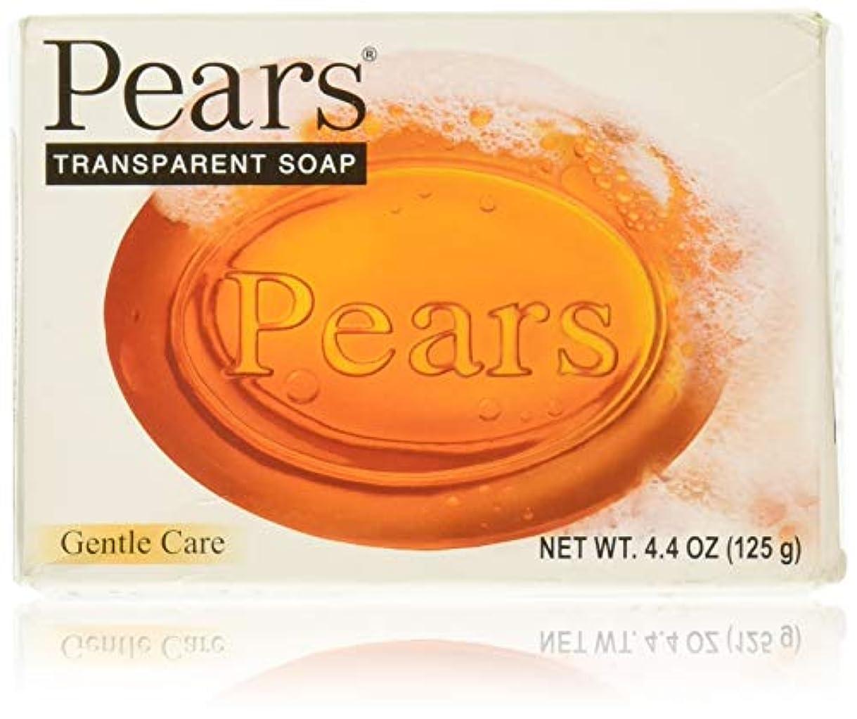 広い凝縮する熟したPears ソープジェントルケアトランスペアレント4.4オズ 1パック
