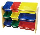 ottostyle.jp TOY BOX (トイボックス) おもちゃ収納ラック(3段タイプ) 【木目ラック&カラーボックス】 おもちゃ箱/おもちゃ収納ボックス