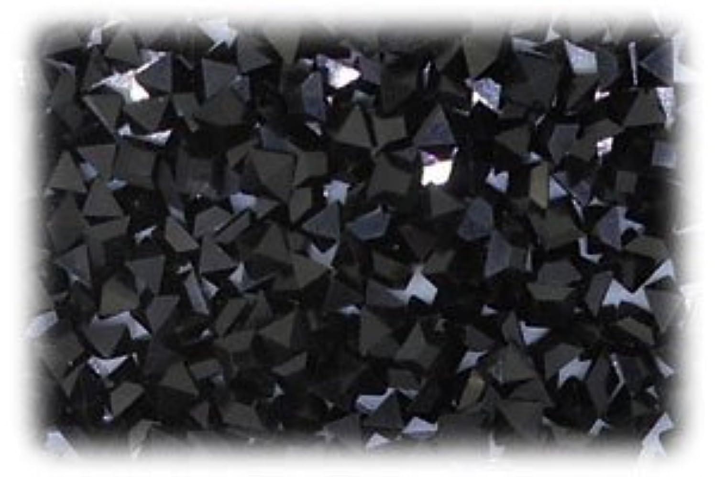 調整可能波紋プレゼントVカットラインストーン スクエア ブラック 1セット(7個入り)X3 サイズ3mmX3mm bla-3x3