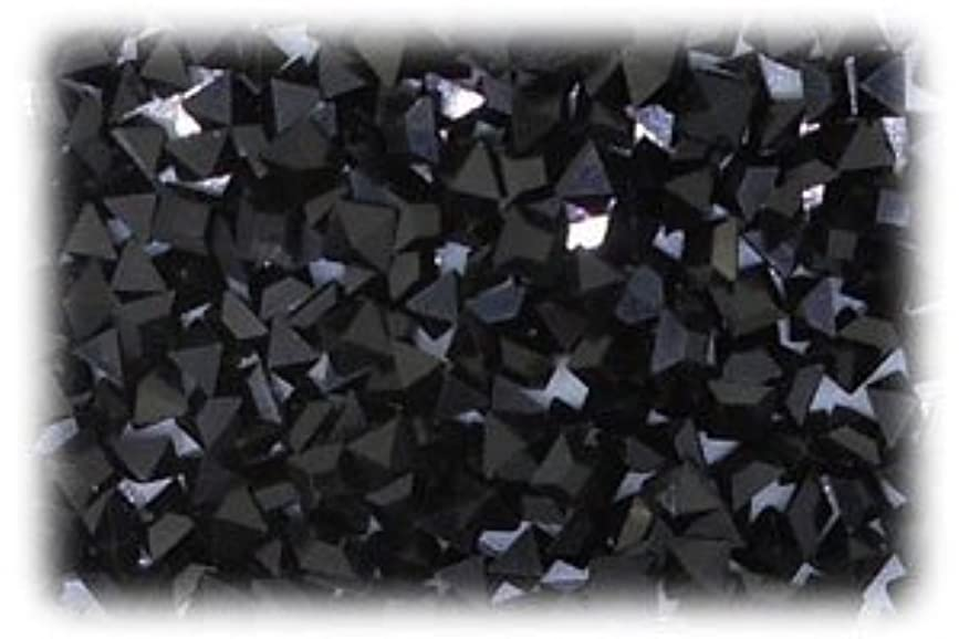 決済葉を集めるタービンVカットラインストーン スクエア ブラック 1セット(7個入り)X3 サイズ3mmX3mm bla-3x3