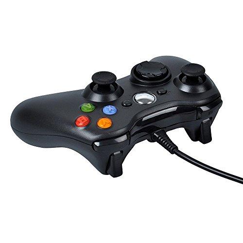 PowerLead 有線USBゲームパッドコントローラー、MICROSOFTのXbox360、(黒)