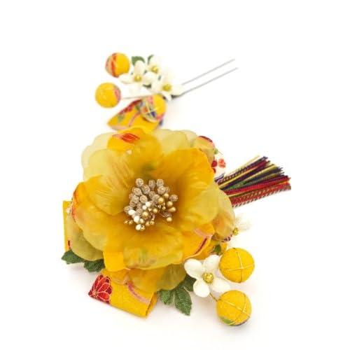 髪飾り 和柄 組紐 花 [成人式/振袖/卒業式/袴/着物/和装]