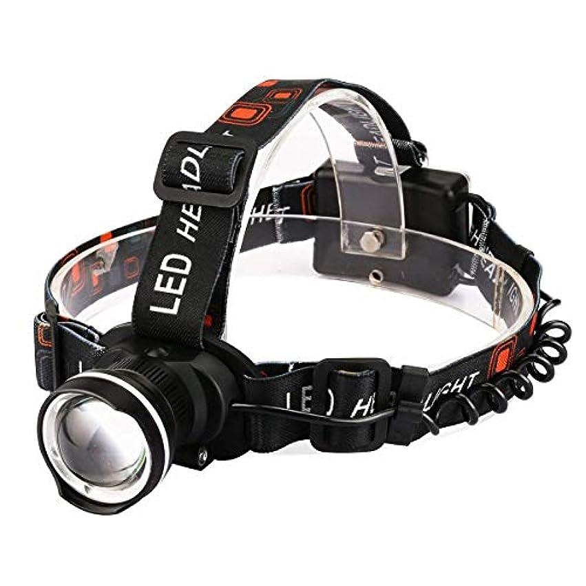 擬人化銃またねErosttd LEDヘッドランプUSB充電式T6スポットライトヘッドライトキャンプライトハンティングヘッドランプケイビング懐中電灯ランニングヘッドランプ (色 : ブラック)