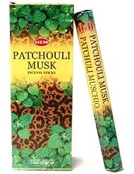 HEM(ヘム)社 パチュリムスク香 スティック PATCHOULI MUSK 6箱セット