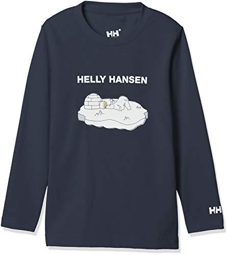 [ヘリーハンセン] K L/S Bear Tee HJ31851 キッズ ヘリーブルー 日本 140 (日本サイズ140 相当)