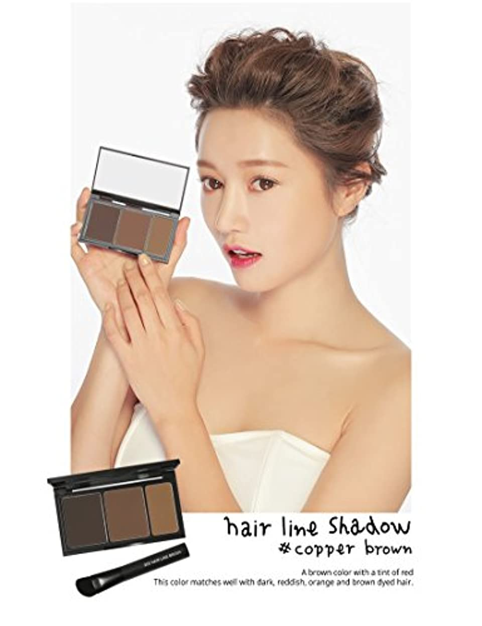 スライスフロンティア部分的3 Concept Eyes 3CE Hair Line Shadow ヘアラインシャドー(Copper Brown)