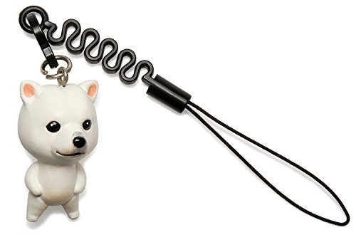 ペットラバーズ 犬種 お犬様 vol.1 Kisyu 紀州犬 白 プチコード 松葉紐 ストラップ MA-4501