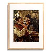 Kauffmann, Hugo,1844-1915 「Die Dorfpolitiker. 1881」 額装アート作品
