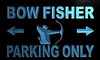 LED看板 ネオンプレート サイン 電飾・店舗看板・標識・サイン カフェ バー ADV PRO m196-b Bow Fisher Parking Only Neon Light Sign