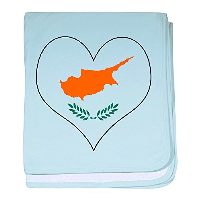 CafePress – キプロスハート – スーパーソフトベビー毛布、新生児おくるみ ブルー 057667893125CD2