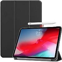 Vikisda iPad Pro 11 2018 ケース カバー 高級感PUレザー 超軽量 薄型 傷つけ防止 耐衝撃 三つ折 スタンド機能 2018年モデル iPad Pro 2018 11インチ ケース ブラック