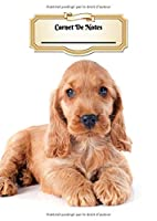 Carnet De Notes: Cocker Spaniel Anglais | Chiot ou Chien | A4 139 Pages Avec Papier Quadrillé 5 x 5 mm | Cahier d'exercices | Cahier d'écolier | Graph Paper Journal | Notebook | Espace pour votre nom