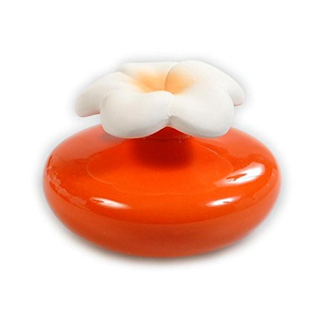 無秩序呼び起こすずるいMillefiori FIORE ルームフレグランス用 花の形のセラミックディフューザー Mサイズ オレンジ LDIF-FM-004