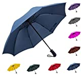 Fidus 折りたたみ傘 ワンタッチ自動開閉 逆折り式傘 高強度グラスファイバー 耐風撥水 大きい 晴雨兼用 ビジネス 車用 ゴルフ傘 収納ポーチ付