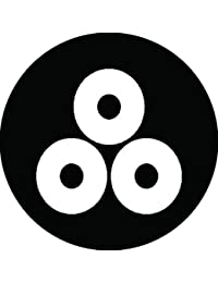 家紋シール 三つ盛り蛇の目紋 布タイプ 直径40mm 6枚セット NS4-1453