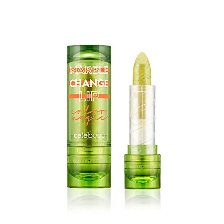 晴れ面積呪われた【celebeau公式】celebeau Marble Change Lip 3.5g/セレビュー マーブル チェンジ リップ 3.5g (02 イエロー ライム)
