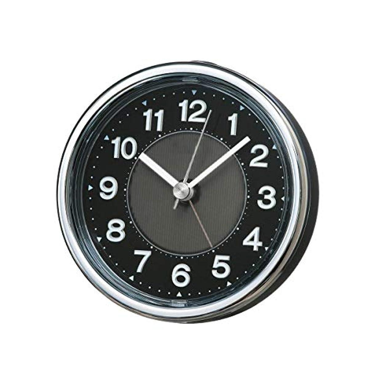 南極乙女放棄RMXMY シンプルな雰囲気の家の創造的な多機能の寝室のベッドサイドのシミュレーションバックライト人格スタイリッシュな小さな目覚まし時計(ブラック)