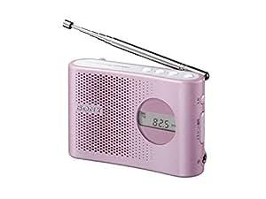 SONY FM/AM PLLシンセサイザーハンディーポータブルラジオ ピンク ICF-M55/P