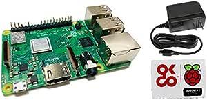 ラズベリーパイ3B+ (Raspberry Pi 3B+) 技適対応 + USB電源アダプタ 5V/3A 1.5m