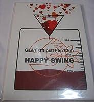 GLAY HAPPY SWING 10周年記念 メンバーメッセージ入りボックスカード&プレミアム会員証 非売品