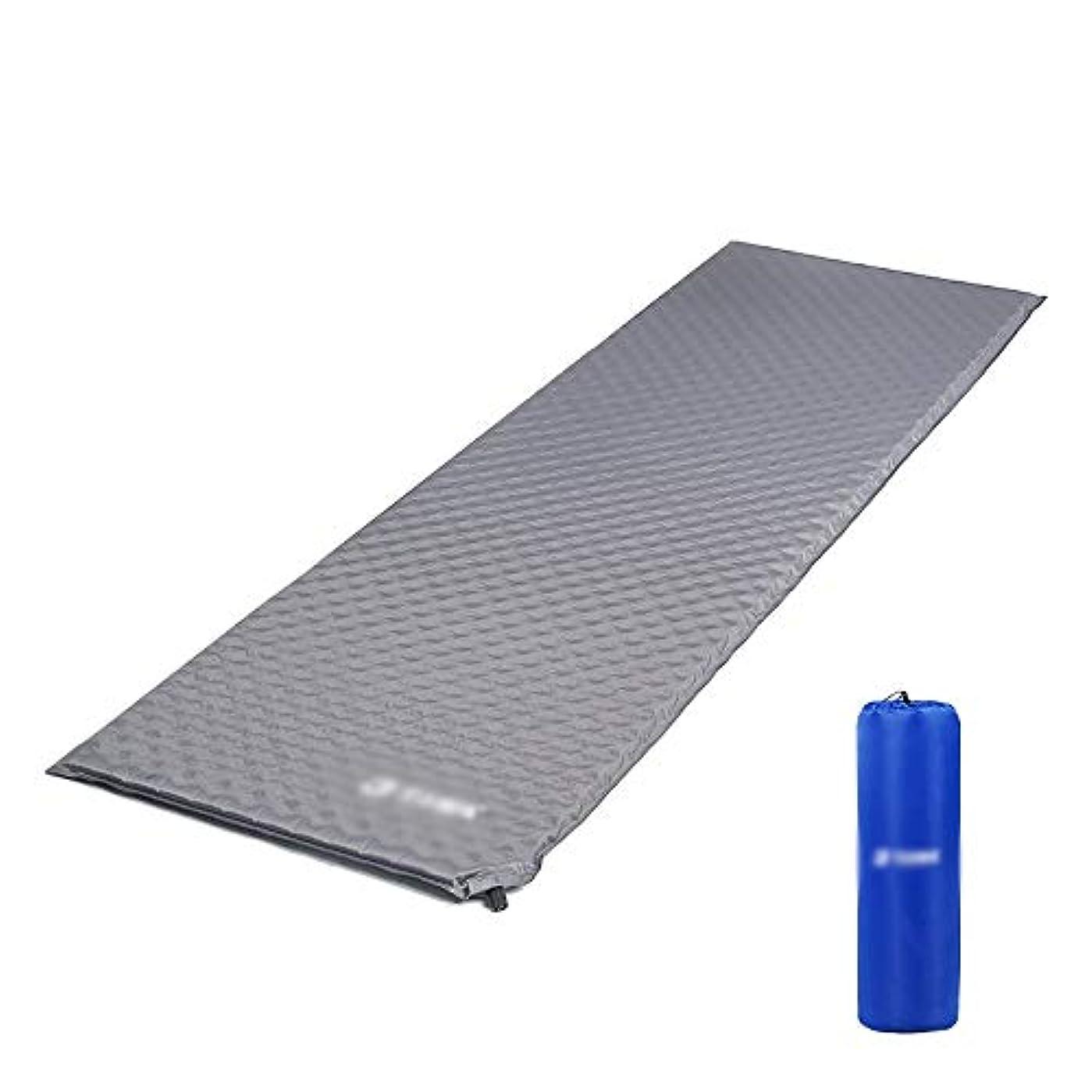 悔い改め拍手文化屋外キャンプ自動インフレータブルクッション快適な光インフレータブルテントパッドシングル折りたたみ防水スリーピングフォームマット190×60×2.7センチ (Color : Gray)