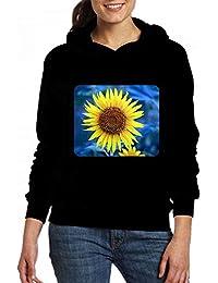 若いひまわり Women Pocket Hoodie Sweater レディーズ トップス パーカー アクティブウェア