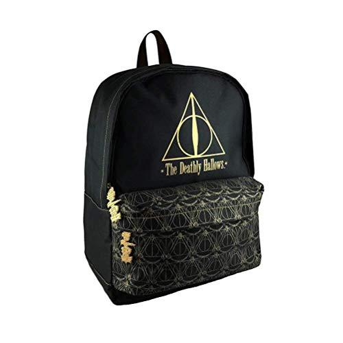 Harry Potter Black Deathly Hallows Backpack School Bag