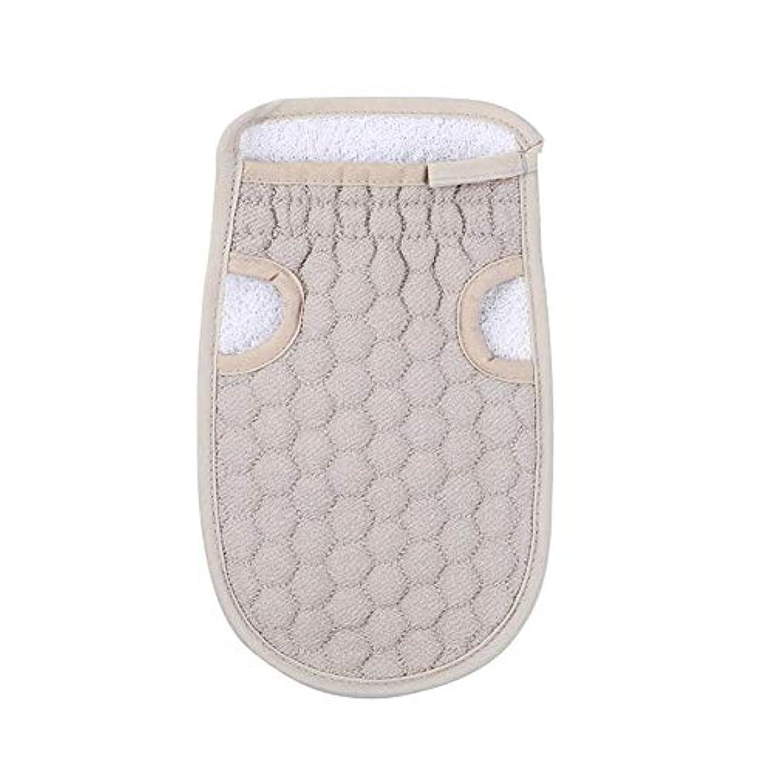 肺ご飯浴用手袋 入浴用手袋 お風呂用手袋 角質除去 マッサージ ボディーグローブ 両面 繰り返し使用 バスタオル