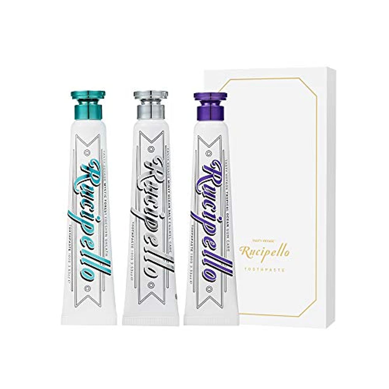 限り正確に促進する[ルチペッロ] Rucipello 歯磨き粉3種のプレゼントセット 100g x 3 本 (海外直送品)