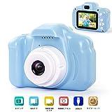 子供用 デジタルカメラ トイカメラ 子供プレゼント 子供カメラ 500万画素 2.0インチ 多機能 USB充電 日本語説明書付き 子供の日 誕生日 知育 教育 男女兼用(16GSDカート付き) (ブルー) (ブルー)