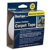 Shurtapeインドア/アウトドアカーペットテープ1.41-in X 42-ft、ホワイト