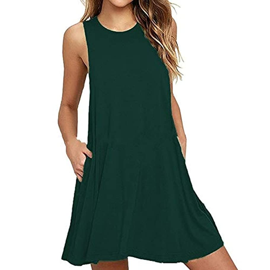 子羊糞ホステスMIFAN 人の女性のドレス、プラスサイズのドレス、ノースリーブのドレス、ミニドレス、ホルタードレス、コットンドレス