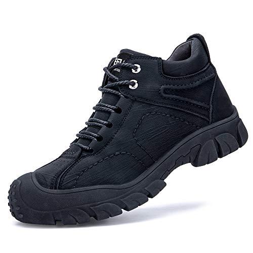 [Aoop] 安全靴 作業靴 メンズ スニーカー 防水 ハイカット ブーツ 防寒 軽量セーフティーシューズ 鋼先芯 通気 防滑 ワーキングシューズ 衝撃吸収 耐摩耗 登山靴 832-1 27.5cm/45