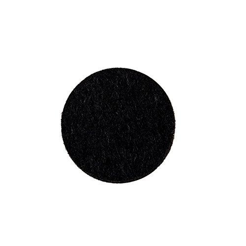 Tenn Well 家具保護パッド, 50pcsキズ防止・防音 丸いフェルトパッド (ブラック)