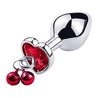 CXQ 心地よいおもちゃへの高品質の金属ベルの拡張 T-shirt (Color : Red, Size : L)