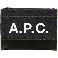 A.P.C. Men's CODDPH63293DARKNAVY Blue Cotton Clutch