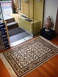 手織りウール絨毯 92cm × 129cm AC-0115