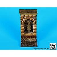 ブラック犬1 : 35 Street NicheセクションW / Saint Statue Vignetteベース45 x 45 mm d35068