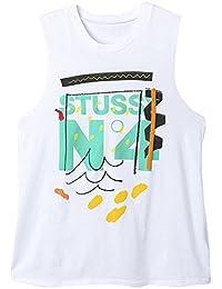 (ステューシー) STUSSY 2941310 WOMEN NO. 4 DOODLE MUSCLE TEE WHITE [並行輸入品]