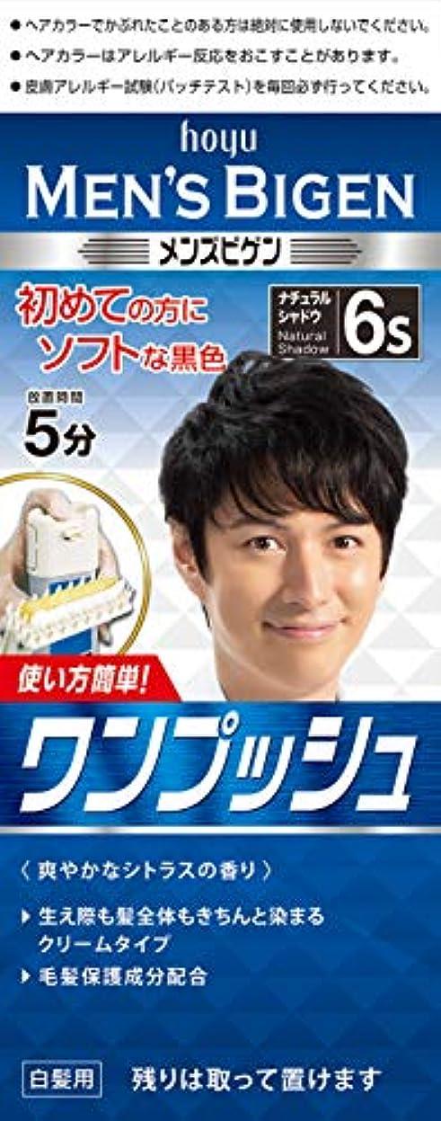 韓国語効率的解き明かすメンズビゲン ワンプッシュ 6S ナチュラルシャドウ 1剤40g+2剤40g 白髪染め 1剤40g+2剤40g