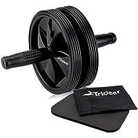 Trideer 腹筋ローラー マット付き アブローラー 300KG耐重 超静音 アブホイール 組立取付簡単 厚化スチールパイプ シックスパックを鍛える腹筋器具