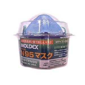 MOLDEX 医療プロ用 N95マスクロッカー5枚入り M