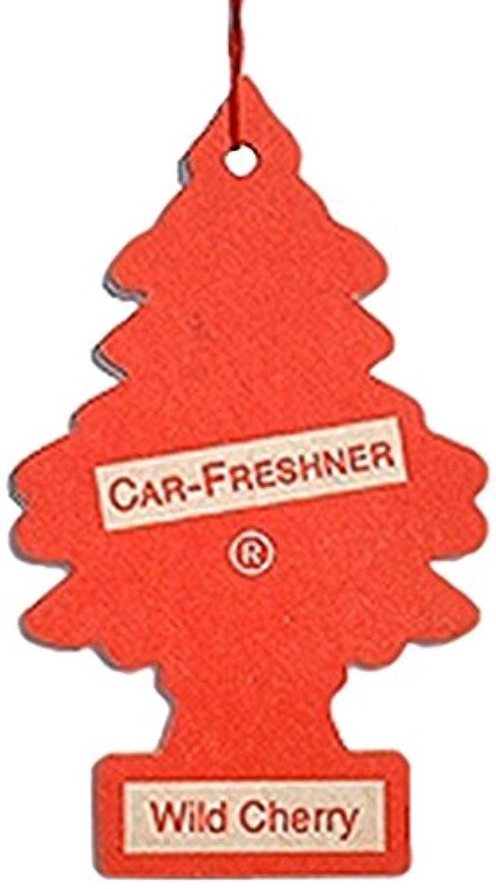 シェルター政治的冷蔵するLittle Trees 吊下げタイプ エアーフレッシュナー ワイルドチェリー 4枚セット(4P)