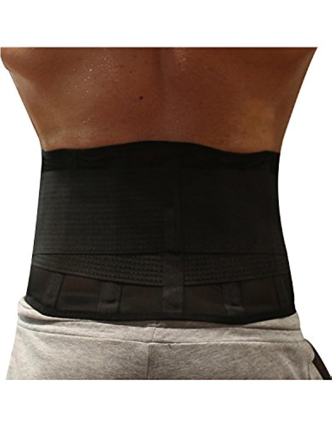 包囲遅れシーサイドBurvogue腰サポーター 腰痛コルセット 腰痛ベルト骨盤ベルト 骨盤コルセット 薄型 通気性抜群 姿勢矯正 (XX-Large, ブラック1)