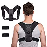WORLD-BIO Posture Corrector,iUpcoot Upper Back Posture Corrector Comfortable Adjustable Posture Support for Clavicle,Invisiable Back Brace for Neck Back Shoulder Pain Relief